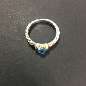 David Yurman Cable Band Hampton Blue Topaz Ring